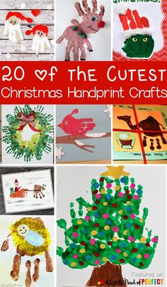 20 of the Cutest Christmas Handprint Crafts for Kids: The ideas include classic Christmas crafts like Santa, Rudolph, a Christmas tree, and The Grinch as well as nativity ideas, and winter animals. Christmas Handprint Crafts, Preschool Christmas, Toddler Christmas, Christmas Activities, Christmas Crafts For Kids, Xmas Crafts, Baby Crafts, Toddler Crafts, Preschool Crafts