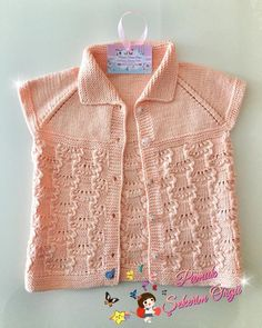 Kaynana Örmez Gelin Giymez Yelek Örgü Modeli Yapılışı Baby Vest, Knit Vest, Baby Knitting Patterns, Beautiful Patterns, Crochet Projects, Knit Crochet, Stylish, Lace, Sweaters