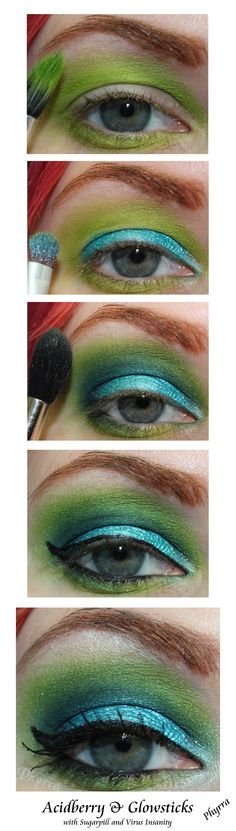 Acidberry and Glowstick tutorial with Sugarpill. Click through to see more!