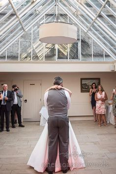 Newlyweds take their first dance at Athelhampton House Wedding First Dance, Bridesmaid Getting Ready, New Wife, Wedding Breakfast, Civil Ceremony, Father Of The Bride, Newlyweds, Wedding Venues, House