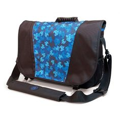 Sumo 16 Inch Messenger Bag - Black and Blue - ME-SUMO33MB3