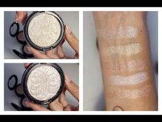 How to make your own highlighters   pressing pigments - YouTube