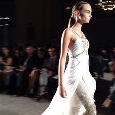 The gorgeous Cara Delevingne at Marchesa