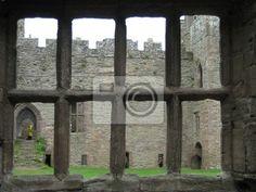 Wall Mural castle looking through ruin window