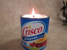 Who knew? A can of Crisco (with a wick a.k.a. a mop strand) can provide almost 30 days of light. You can also make emergency candles from crayons and bacon....Great site!