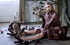 Cara Delevingne representa un nuevo romanticismo en la campaña publicitaria Fall/Winter 2013-2014 de Mulberry