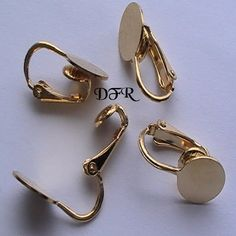 Gold Earring Clip on Pad Earring DIY Jewelry by dragonflyridge, $2.00