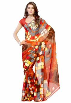 Fabdeal Indian Designer Wear Light Brown Printed Saree Fabdeal Inc, http://www.amazon.fr/dp/B00HWUPBW8/ref=cm_sw_r_pi_dp_H5qotb0YHKDY7