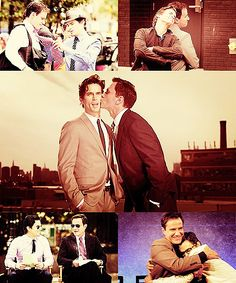True Bromance.  White Collar Peter and Neal Burke and Caffrey Matt Bomer and Tim DeKay