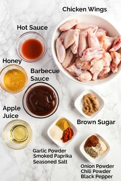 Ingredients to make Crock Pot Chicken Wings with Honey BBQ
