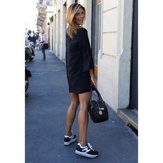 ce076947b5e Martina Colombari in her  HOGAN H283 Maxi Platform  sneakers.  HoganClub   HoganClubbingAt