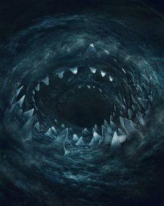 ArtStation - Scylla and Charybdis, Guillem H. Pongiluppi Greek Creatures, Fantasy Creatures, Mythical Creatures, Sea Creatures, Ocean Monsters, Cool Monsters, Fantasy Monster, Monster Art, Arte Com Grey's Anatomy