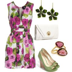 Garden Party, created by bonnaroosky.polyvore.com    Would love to wear this for Easter Sunday!