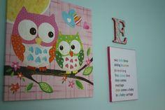 Girls' Owl Wall Art