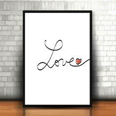 "Affiche ""ecriture love"""