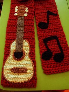 guitar scarf by EEFashions on Etsy