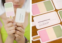popsicle business cards - so cute! maybe something creative like this but on the health promotions side?