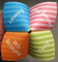 Geburtstag Einladung Cootie Catcher Kinder von DesignsByTenisha                                                                                                                                                                                 Mehr