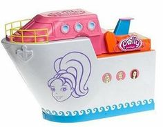 Polly Pocket Cruise Ship by Mattel. $65.00. Part of Polly Travel Collection.. Polly's pals can change up their vacation looks with their color change bathing suits.. So Hip Cruise Ship with three of Polly Pocket's fab friends, Lila, Lea, and Rick.. It's the biggest Polly Pocket playset ever, with tons of fun-filled activities, including rock climbing and parasailing.. Amazon.com                Even tiny dolls need some leisure time to chillax. Polly Pocket's pals go for the ul...