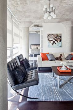 Living Room Orange And Grey And Blue Design, Pictures, Remodel, Decor and Ideas
