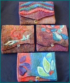 Needle felting - pouches