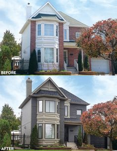 Whether you have brick, stucco, or vinyl or aluminum siding, you can update it with Spray-Net's industrial-strength coatings. See Before & After photos now. Brick Exterior Makeover, Stucco Exterior, Exterior Remodel, Exterior House Colors, Exterior Paint, Stained Brick, Brick Siding, Vinyl Siding, Painted Brick Exteriors