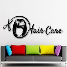 Wall Sticker Vinyl Decal Hair Care Beauty Salon Spa Stylist for Girls (ig1981)