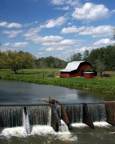 Barn by the river