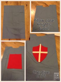 Knights tunic! Made from a pillow case. Fun prop for an Over the Moat photo booth!