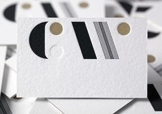 New logo and business cards by Studio Alexander for furniture maker, sculptor and design educator Carin Wilson. Like the dot Corporate Design, Business Card Design, Web Design, Print Design, Logo Design, Design Layouts, Brochure Design, Business Card Maker, Cool Business Cards