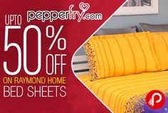 Pepperfry is offering Upto 50% off on #Raymond Home #BedSheets. 185 Items to Choose from.  http://www.paisebachaoindia.com/raymond-home-bed-sheets-upto-50-off-pepperfry/
