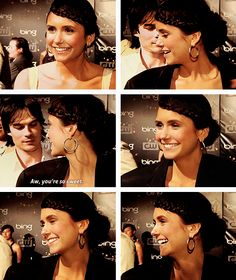 Nina & Ian. This moment. Too cute. Better in gif form.