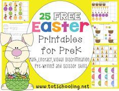 25 Free Easter Printables for Preschoolers
