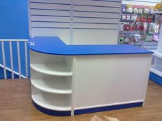 Mobiliario para comercios, tiendas y locales en Madrid. Showroom Design, Shop Interior Design, Shop Shelving, Shelves, Waiting Room Design, Shoe Store Design, Reception Desk Design, Supermarket Design, Pharmacy Design