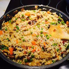 Mis Recetas Anticáncer: Curry básico de verduras con arroz basmati Recetas Anticancer, Curry, Tasty, Yummy Food, Delicious Recipes, Puerto Rican Recipes, Couscous, Fried Rice, Veggies
