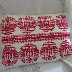 Hungarian Cross stitch embroidered cushion parna.co.uk