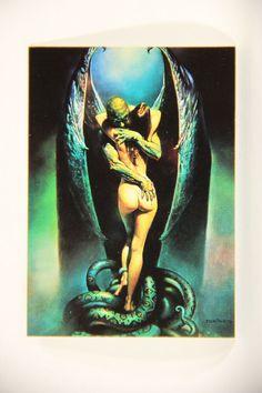 L011009 Boris Vallejo 1992 Card / Vampire's Kiss - 1979 - Card #12 / ARTWORK