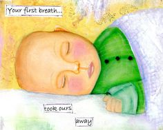 Your first breath...took ours away. Greeting by CountryCraftersUSA, $3.75