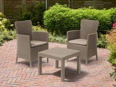 Erkély szett 2 fotel + asztal, cappuccino-homok, SALVADOR BALCONY SET