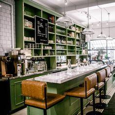 Cozy Cafe Interior, Coffee Shop Interior Design, Retro Interior Design, Coffee Shop Design, Restaurant Interior Design, Cafe Design, Store Design, Restaurant Shelving, Cozy Restaurant