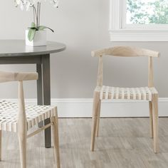 Safavieh Richfield Teak Finish Leather Side Chair (Set of 2) - Overstock™ Shopping - Great Deals on Safavieh Dining Chairs