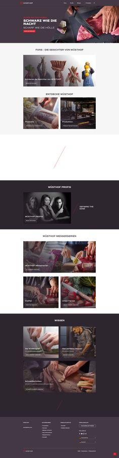 E-Commerce Shopware Onlineshop Webdesign Templates Design Themes Tools Webshop Layout Template Inspiration Website Theme Simple Corporate Identity Branding Creative Storytelling Emotion Erlebniswelten Einkaufswelten Emotional Shopping Worlds Kochen Food Messer Küchenmesser Shop: www.wuesthof.com Shopname #eCommerce #Onlineshop #Webdesign #Design #Shopdesign #Erlebniswelten #EmotionalShopping #ShoppingWorlds #Kochen #Food #Messer #Küchenmesser #WÜSTHOF Food Web Design, Corporate, Ecommerce, Template, Layout, Creative, Inspiration, Online Trading, Modern Design
