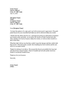 Apology Letter For Delay In Service Delivery