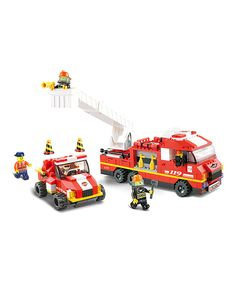 This Special Fire Brigade Block Set by Sluban is perfect! #zulilyfinds