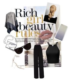 """""""Rich Girl Beauty Rules"""" by fashionfangirls on Polyvore featuring Burberry, Rochas, Gianvito Rossi, Loeffler Randall, Kate Spade and Tiffany & Co."""