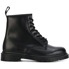 Dr. Martens Smooth boots ($315) ❤ liked on Polyvore featuring shoes, boots, black, dr martens shoes, real leather boots, leather shoes, kohl shoes and black boots