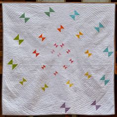 Happy Quilting: Butterfly Whirl - A Finish