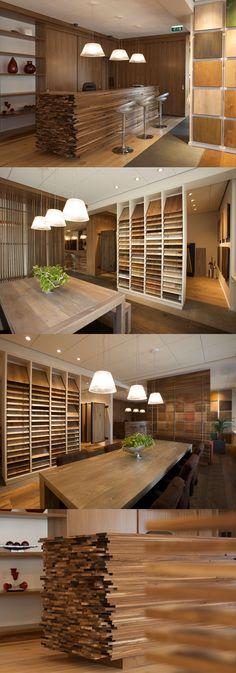 Corné heeft voor Heywood vloeren een ontwerp voor het nieuwe interieur voor de showroom gerealiseerd en de uitvoering verzorgd. Leuk detail wij zijn in het ontwerp en uitvoering uitgegaan van gebruik maken van hun eigen basis materialen, de vloerdelen