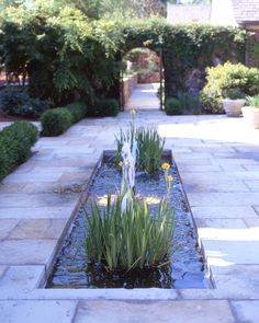Garden pool: would be cool in the front yard in the center of a wide slate tile walkway