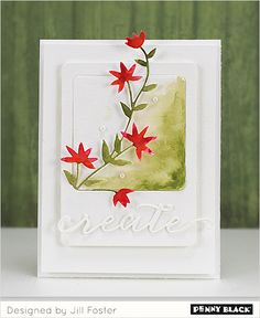 """A Penny Black Creative Die """"team-up"""" with cards by Birgit Edblom and Jill Foster- details on our blog"""